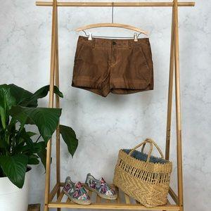 Anthropologie Pilcro Brown Vegan Leather Shorts